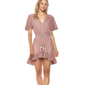 Young Fabulous Broke Eyelet Costa Dress TAUPE M